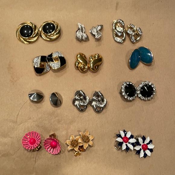 Vintage Clip-on Earring Lot